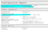 Версия прошивки в отчете